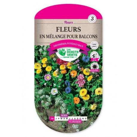 Fleurs EN MELANGE POUR BALCONS