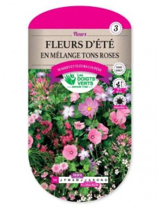 Fleurs d'été EN MELANGE DE TONS ROSES