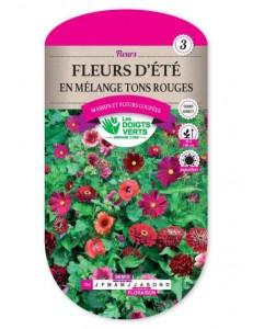 Fleurs d'été EN MELANGE TONS ROUGES