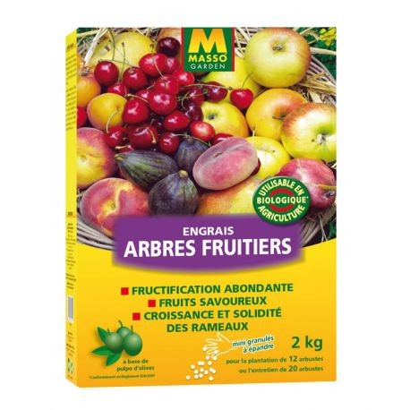 Engrais Arbres Fruitiers BIO 2KG