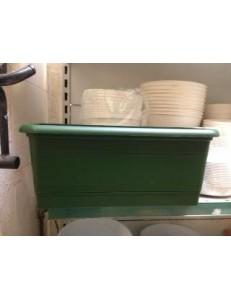 Jardinière soucoupe intégré verte terracotta